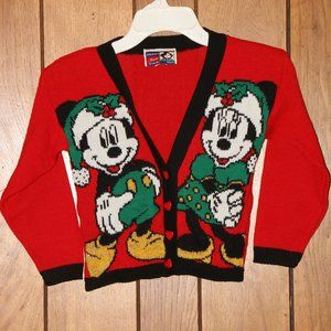 VTG 90s Mickey's Stuff Sz 6 Ugly Christmas Sweater